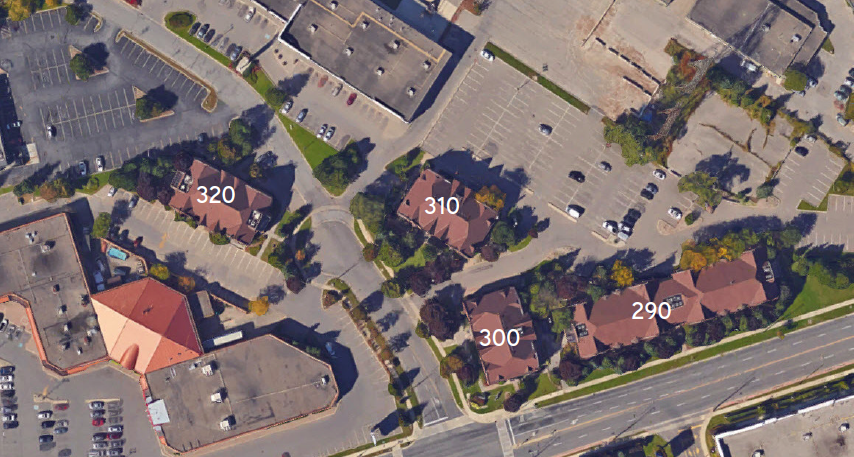 290-310 North Queen Aerial Map