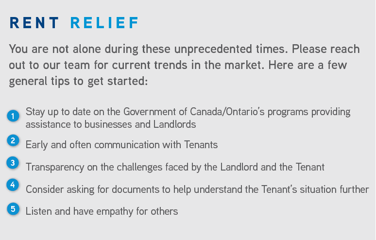 Rent Relief Tips GTA West