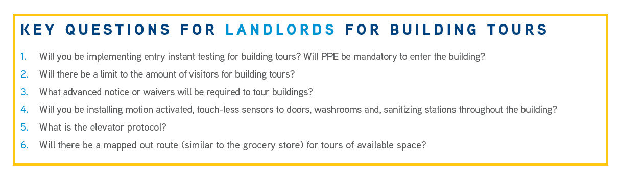 Key Questions for Landlords for Building Tours