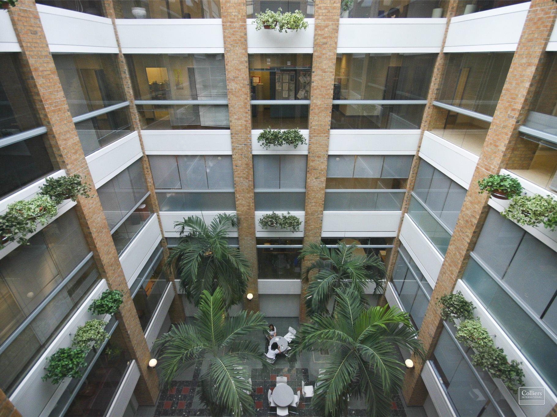 Atrium inside 2150 Islington
