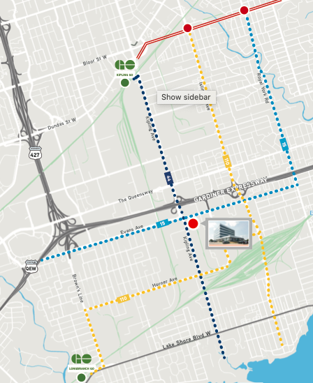 Transit Map of Area