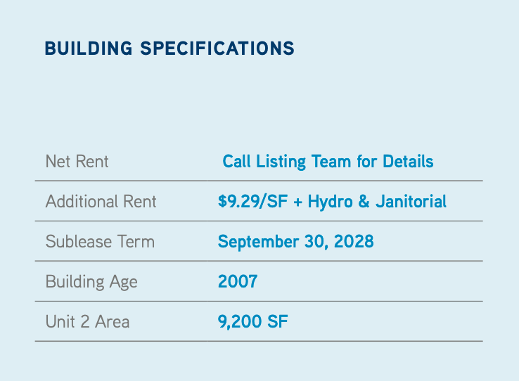 Building Specs for 60 Courtneypark Drive West