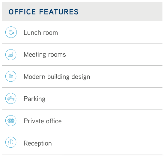 Office Space Features